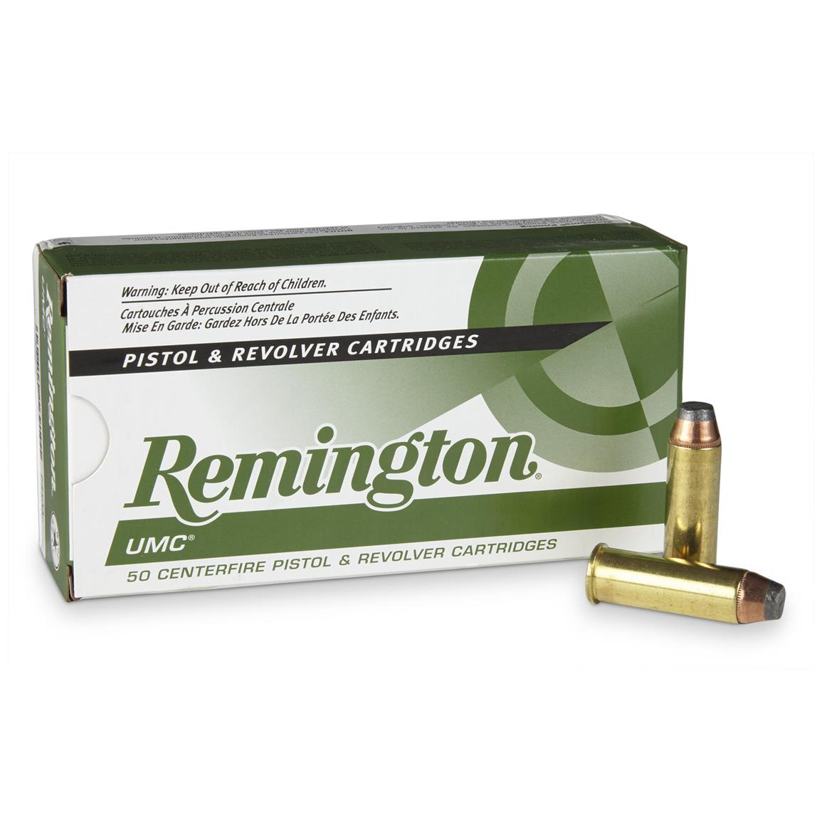 Remington UMC Handgun,  44 Magnum, JSP, 180 Grain, 50 Rounds