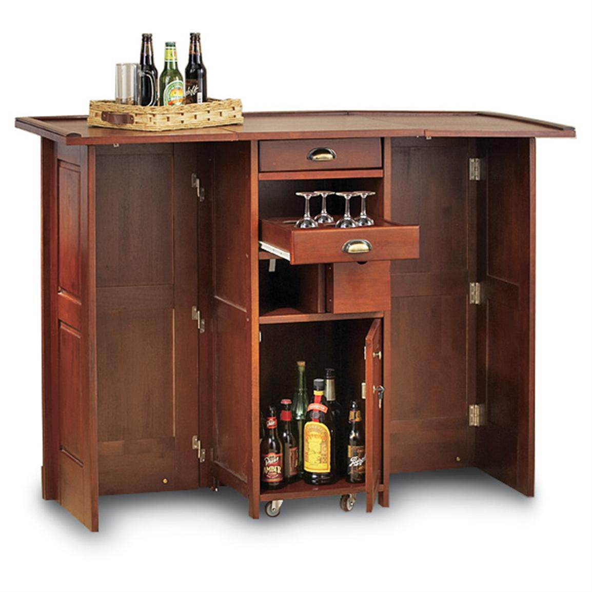 Swing open portable bar 101882 kitchen dining at sportsman 39 s guide - Portable kitchen bar ...