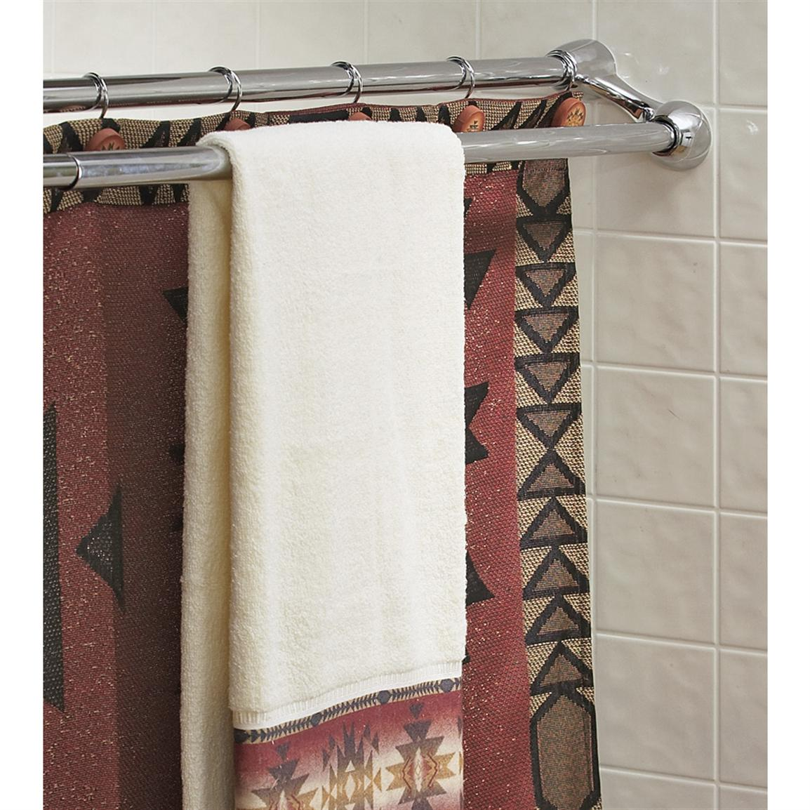 Duo Shower Curtain Rod / Towel Bar - 101920, Bath at Sportsman\'s Guide