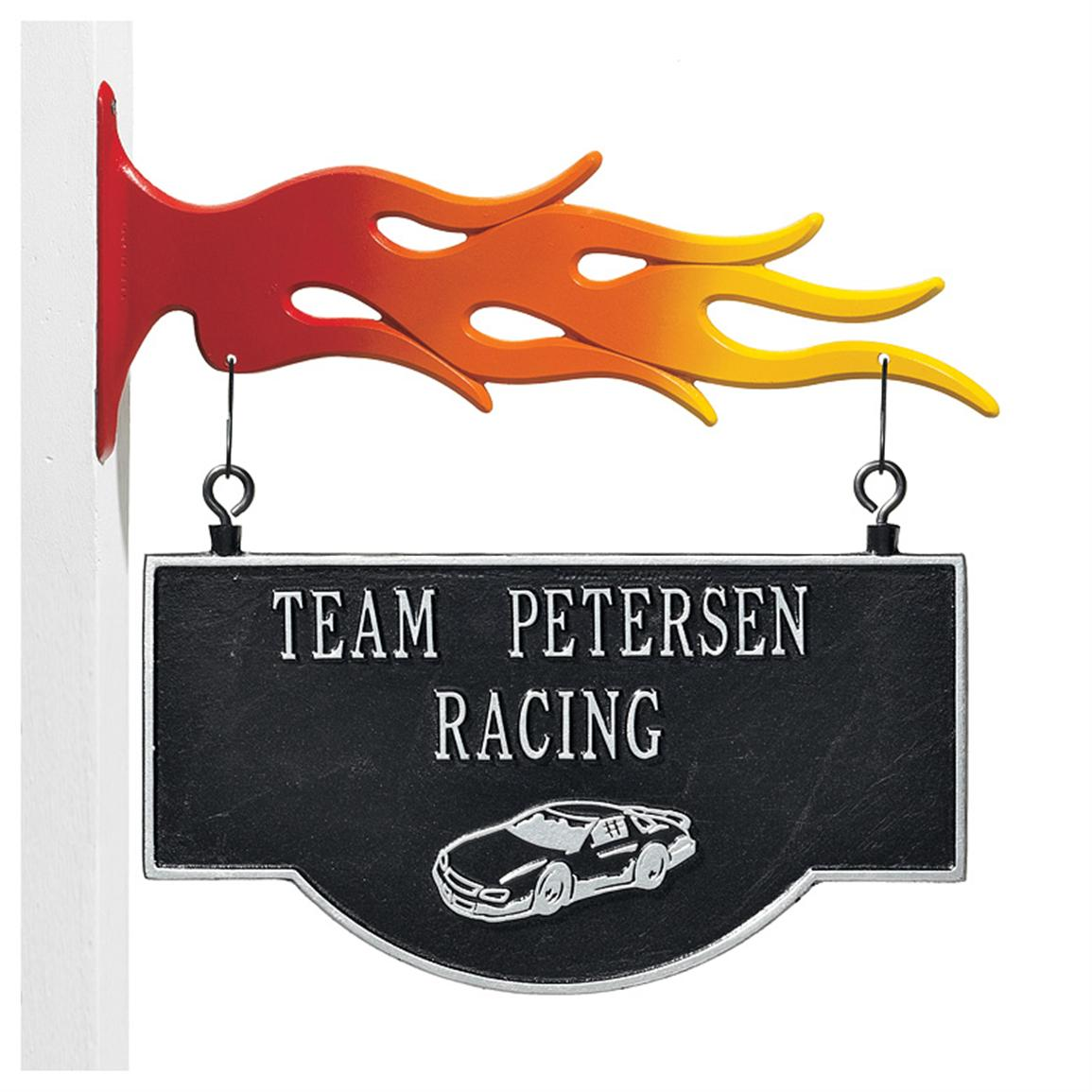 2-sided Plaque with Hook, Stock Car