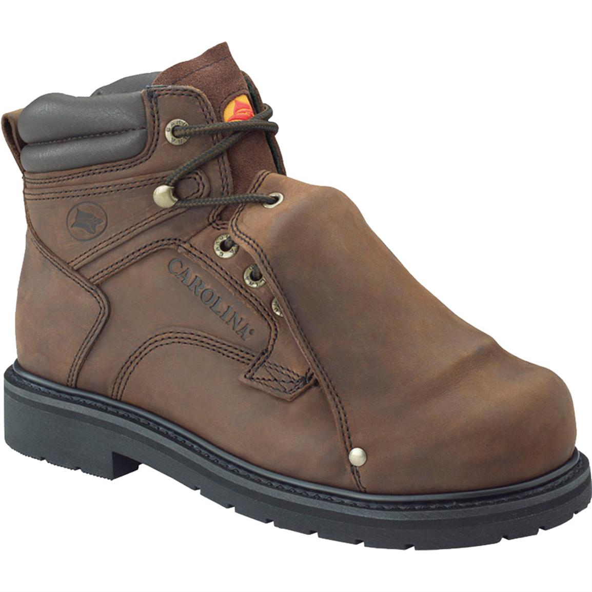 "Men's Carolina® 6"" Steel Toe Metatarsal Boots, Dark Brown"