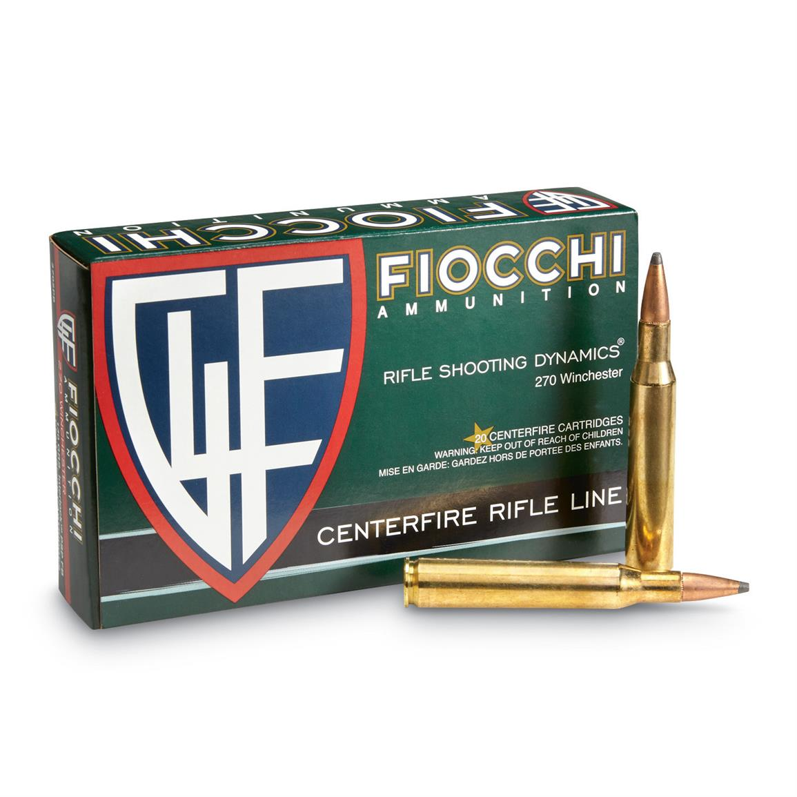 Fiocchi Rifle Shooting Dynamics, .270 Winchester, PSP, 130 Grain, 20 Rounds