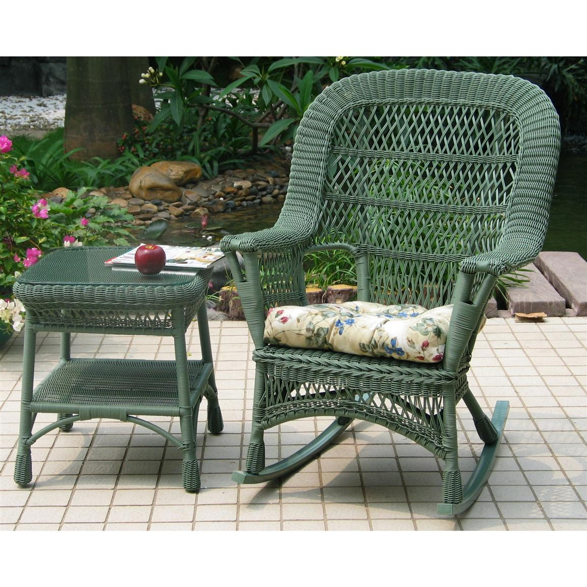 chicago wicker 4 pc mackinac wicker patio furniture collection