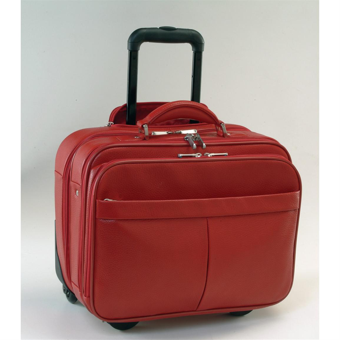 Royce Leather Ultimate Computer / Commuter Travel Case, Red