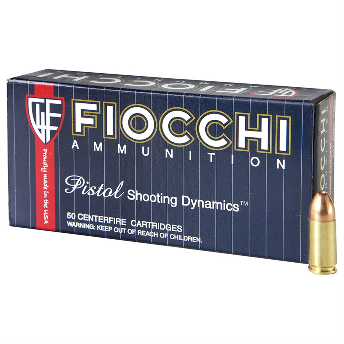 Fiocchi, 9mm, FMJ, 147 Grain, 1,000 Rounds