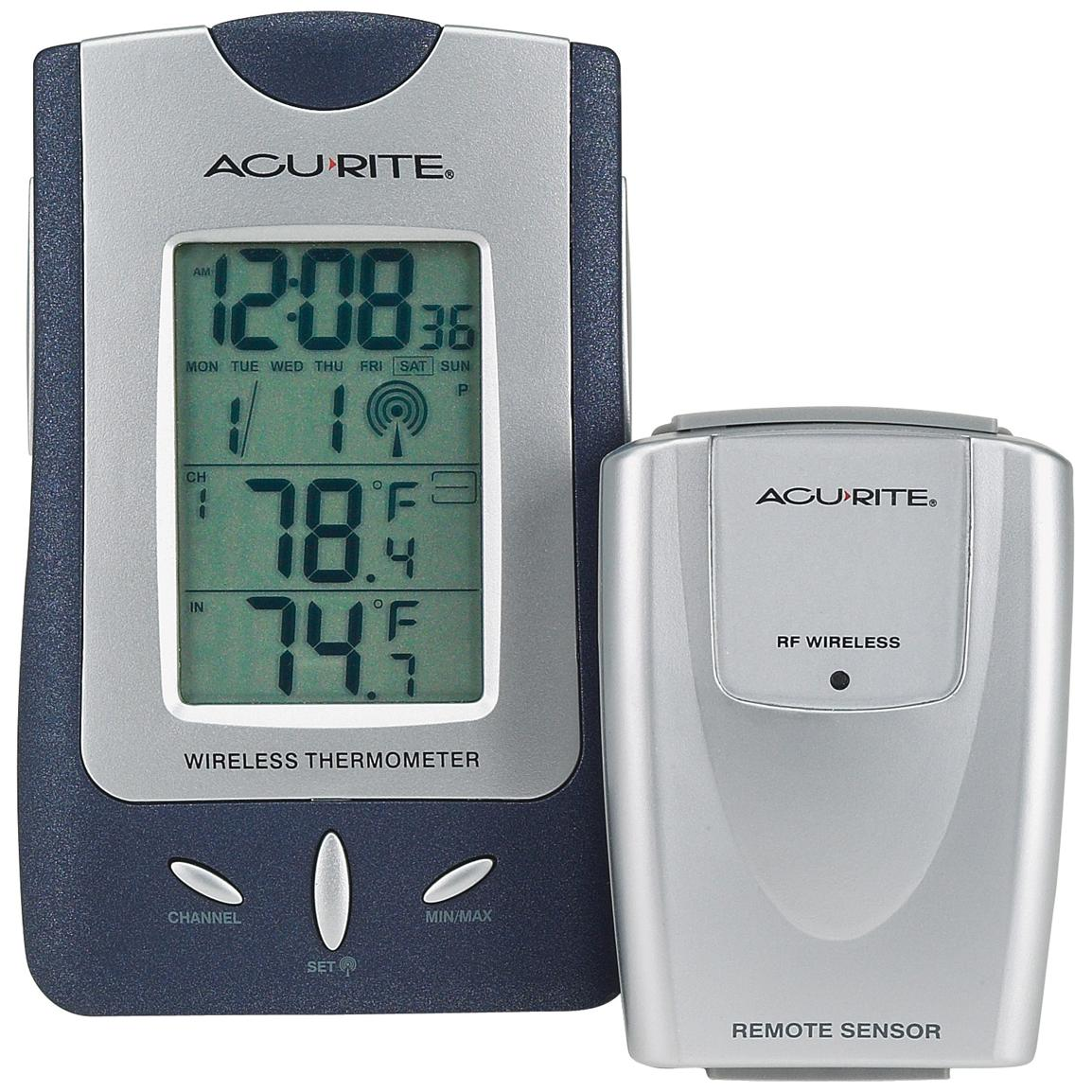 Acu-Rite Wireless Weather Station and Atomic Clock and Additional Remote Wireless Weather Sensor