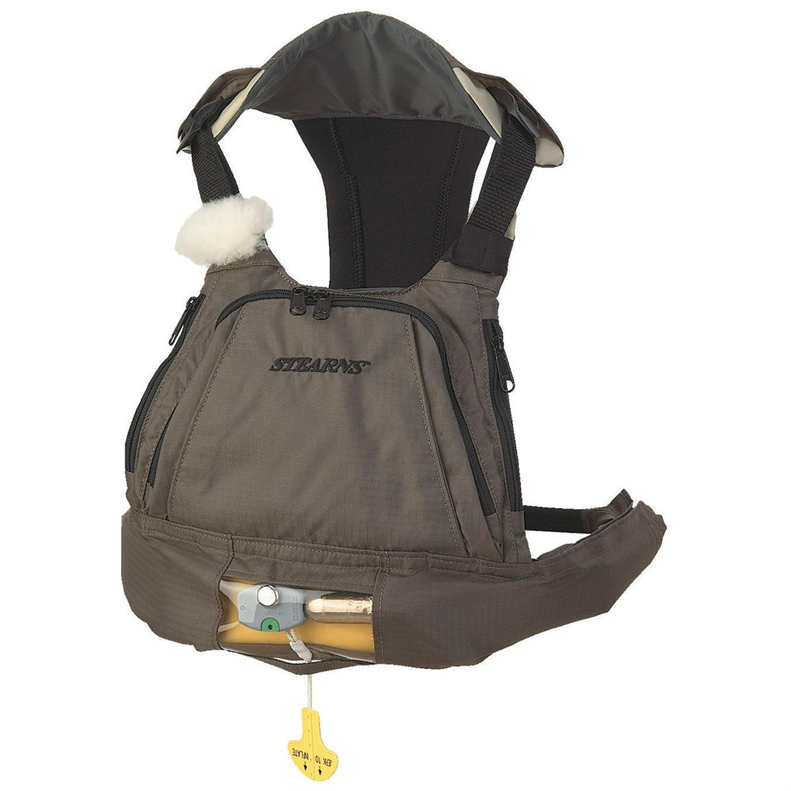 Stearns Sportsman's Inflatable Chest Pak-Man, Taupe