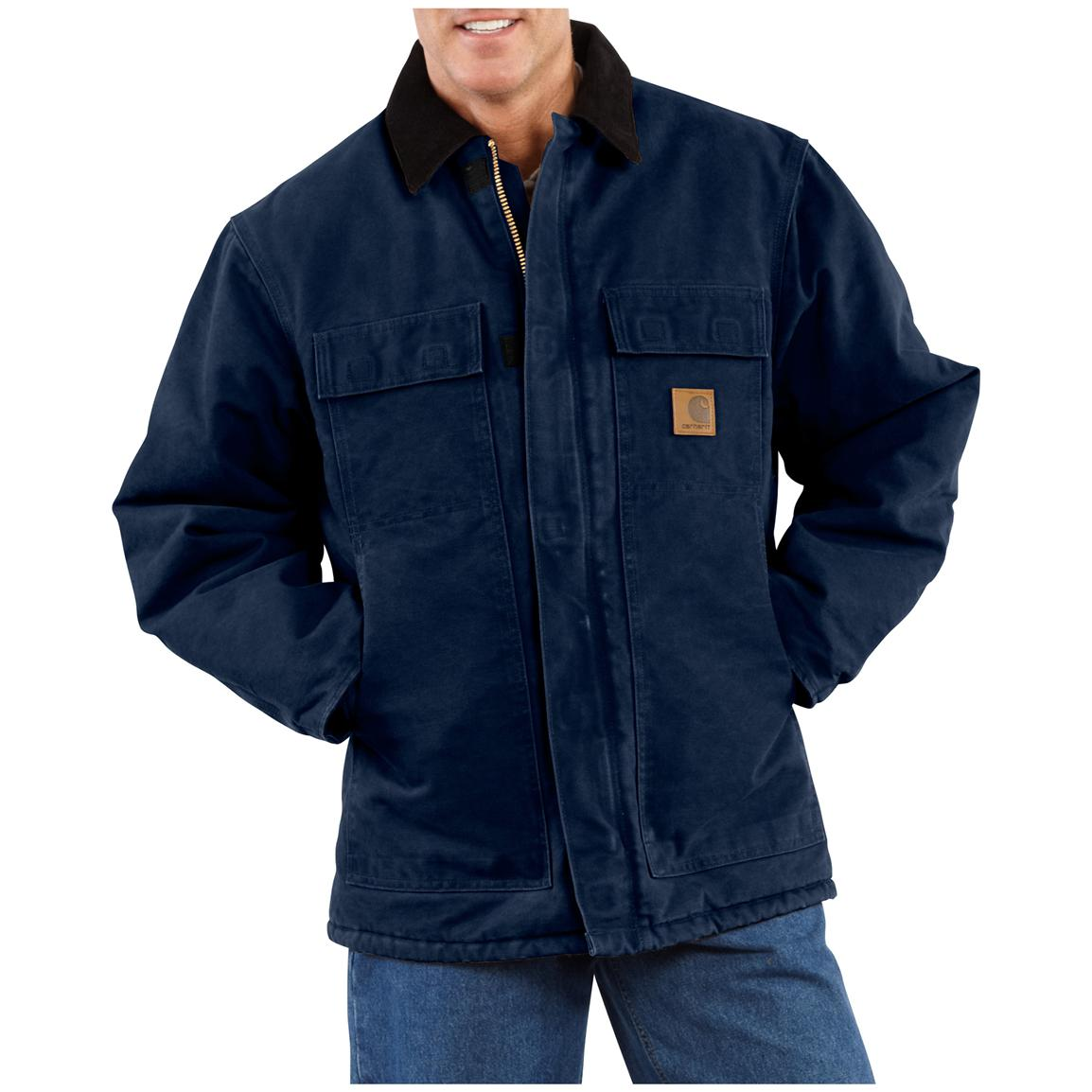 Carhartt Men's Sandstone Arctic Quilt Lined Traditional Coat, Midnight