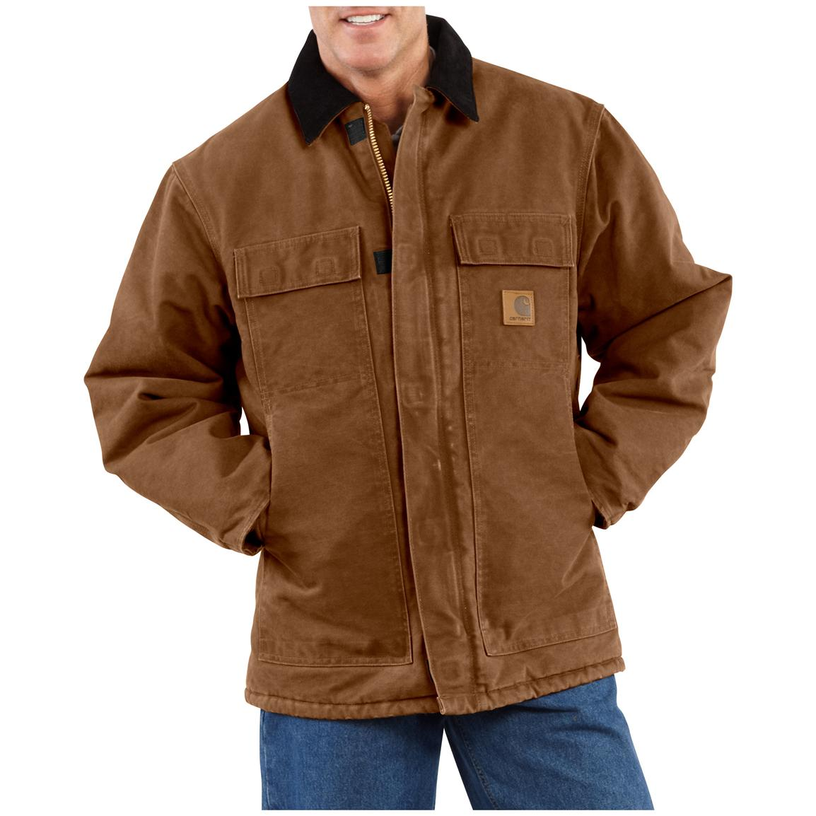 Carhartt Men's Sandstone Arctic Quilt Lined Traditional Coat, Brown