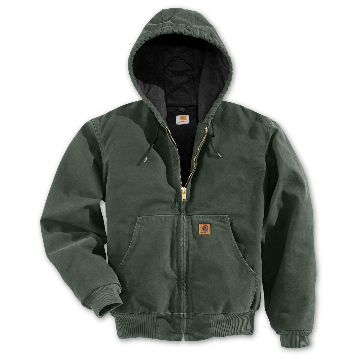 Carhartt Quilted Flannel Lined Sandstone Active Workwear Jacket
