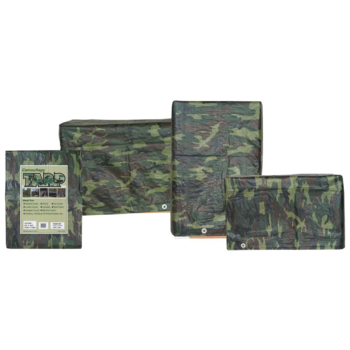 Fox Outdoor Polyethylene 12x30' Camoflauge Tarp