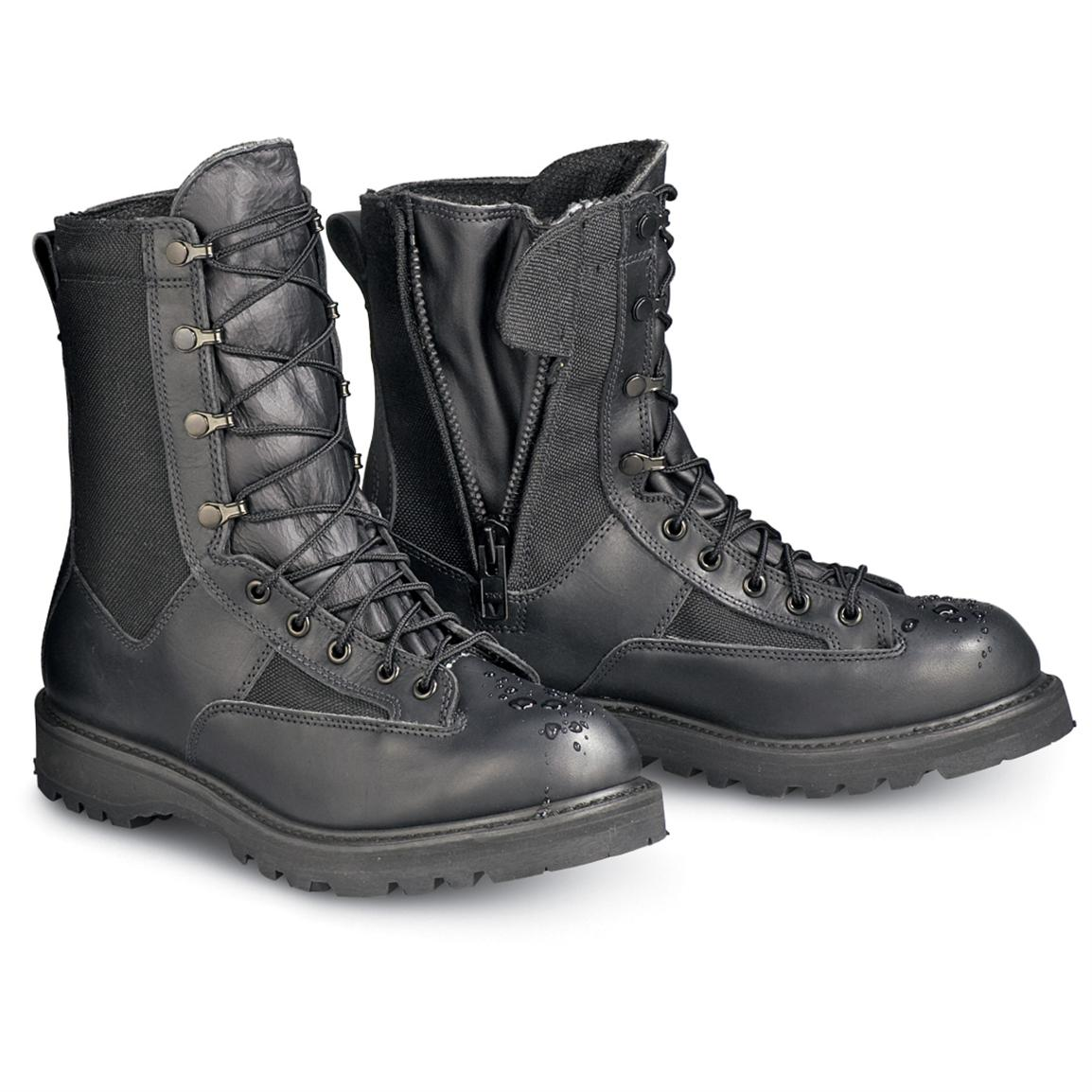 Men S Rocky 174 Waterproof Duty Boots Black 112783 Combat