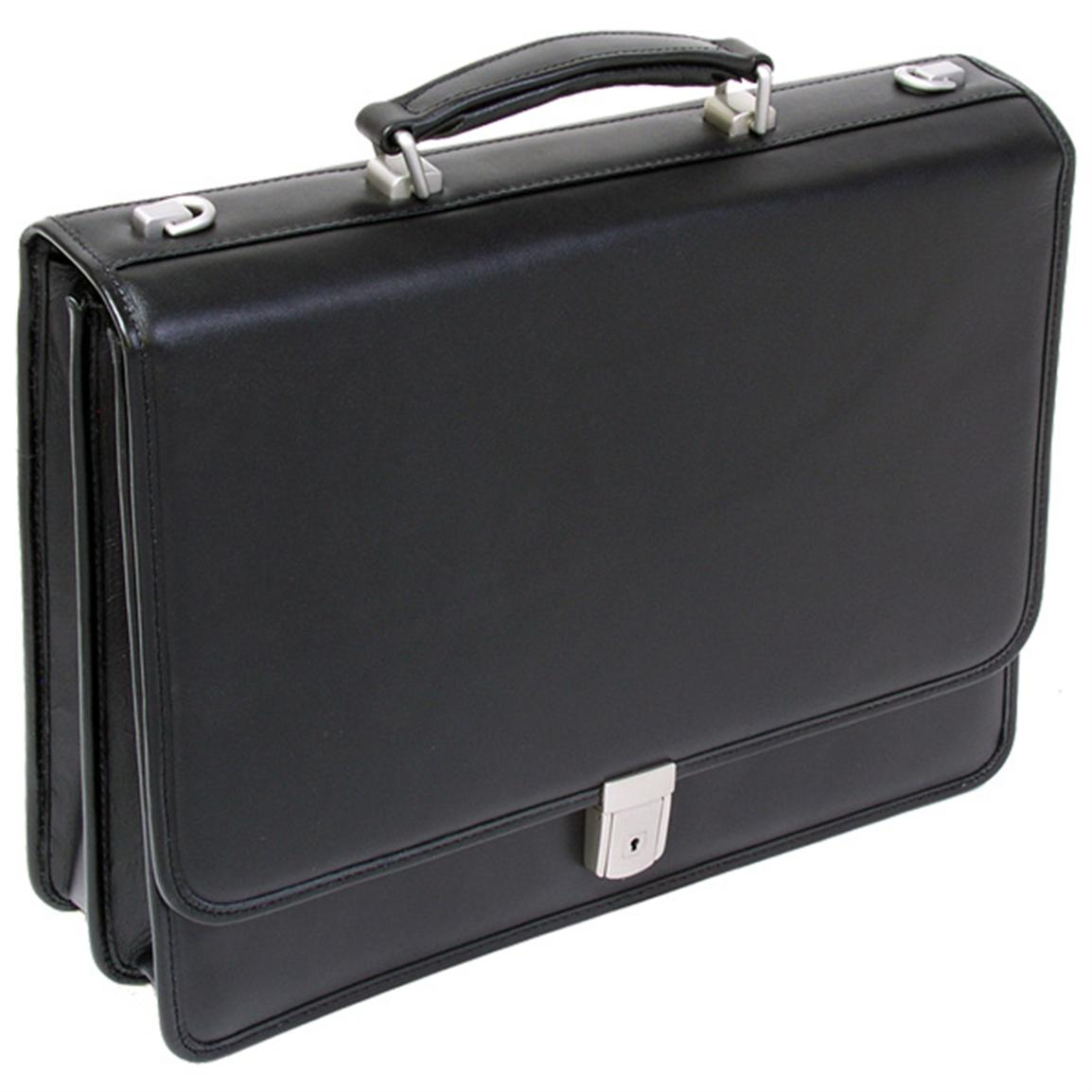 McKlein USA V Series Lexington Leather Double Compartment Briefcase