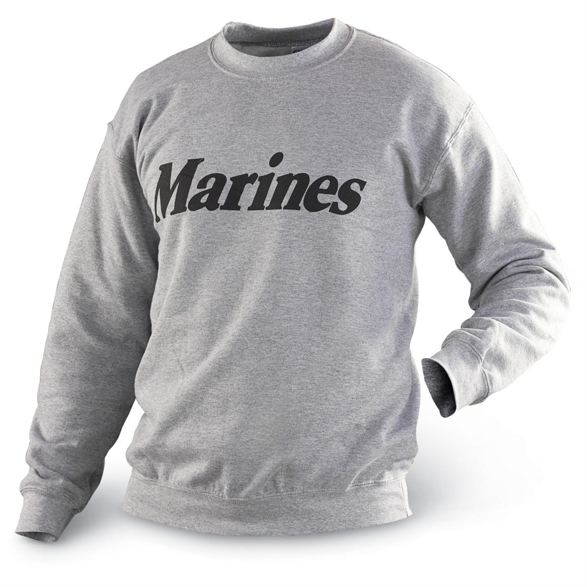 Military-style Service Branch Sweatshirt, Marines