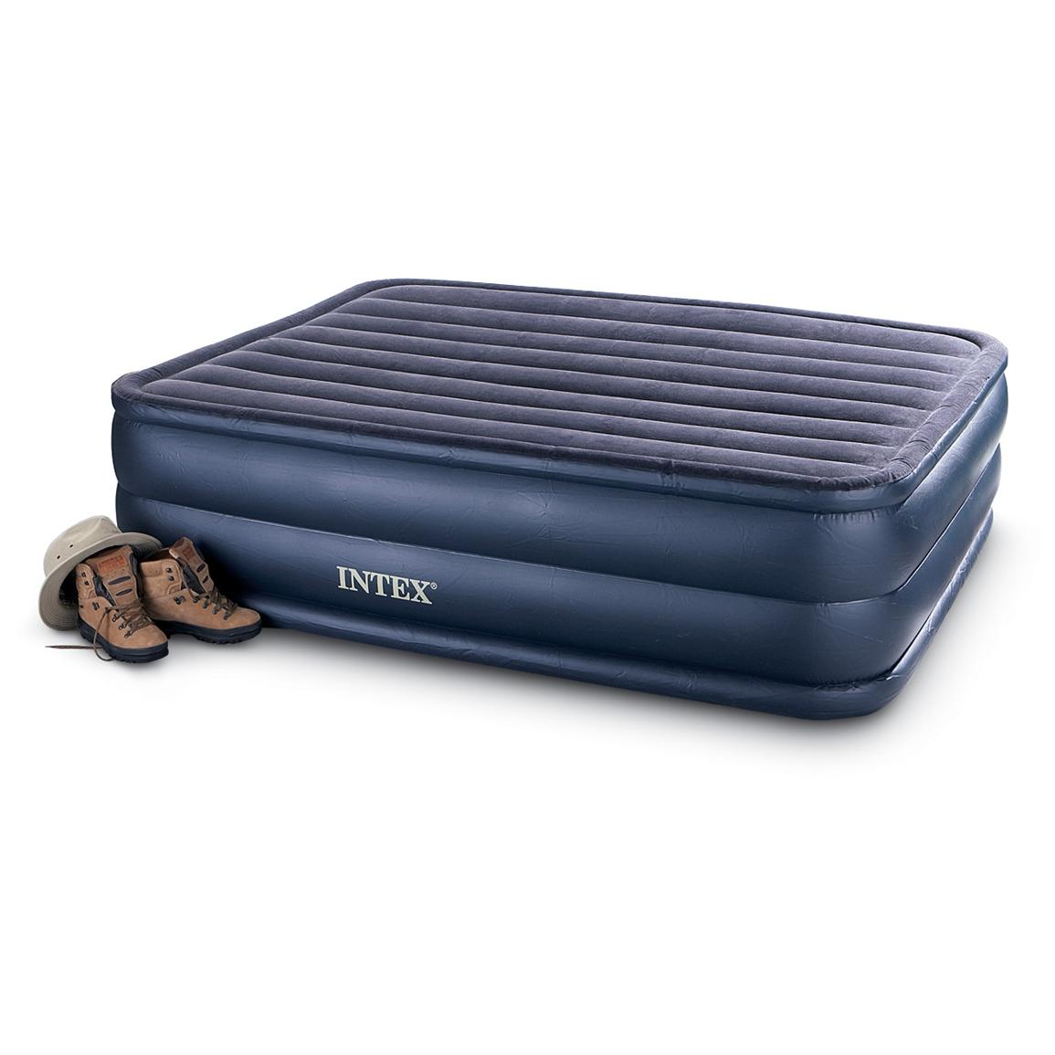 Intex Queen Air Bed Mattress with Built-In Electric Pump
