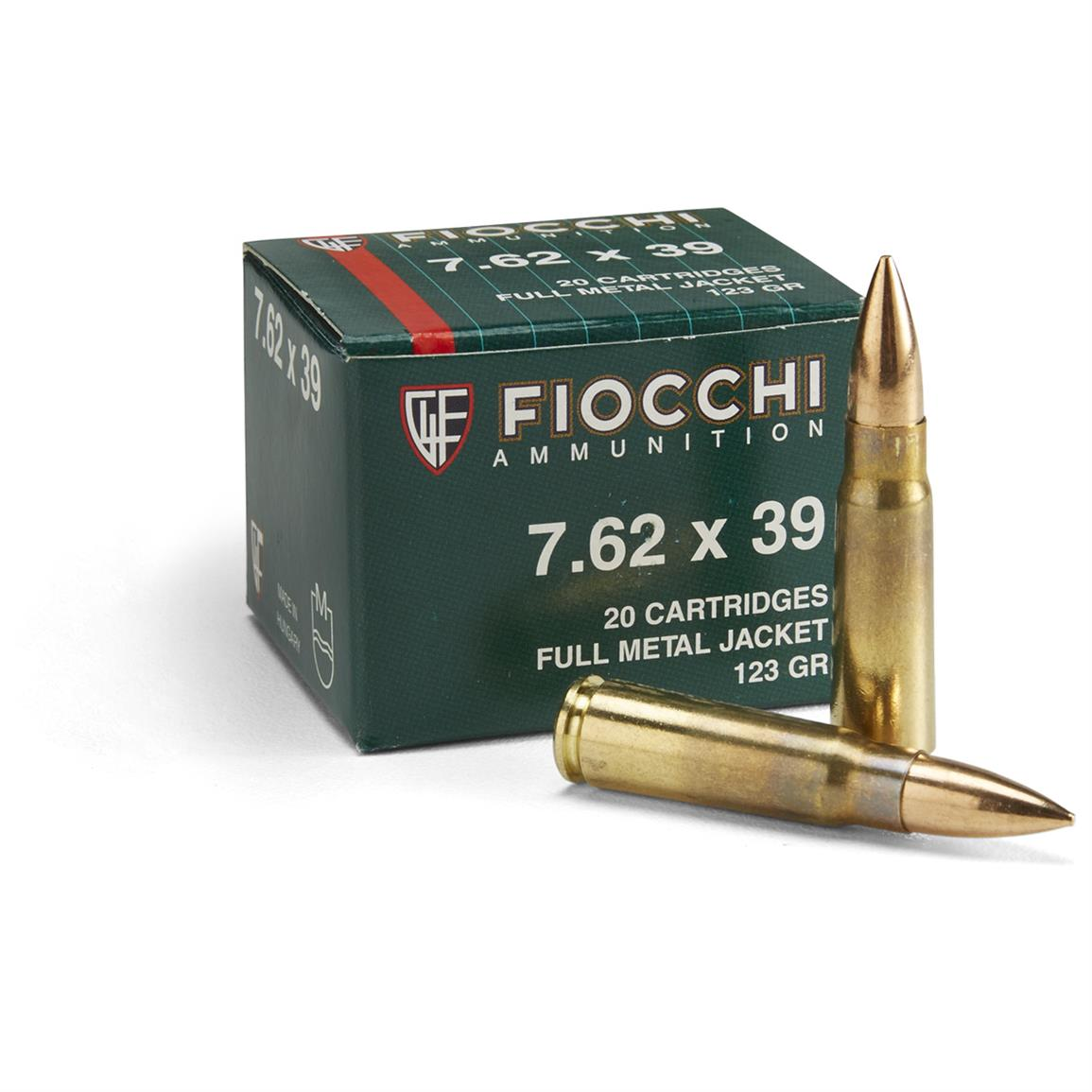 1,000 rounds 123 Grain 7.62x39 FMJ Ammo