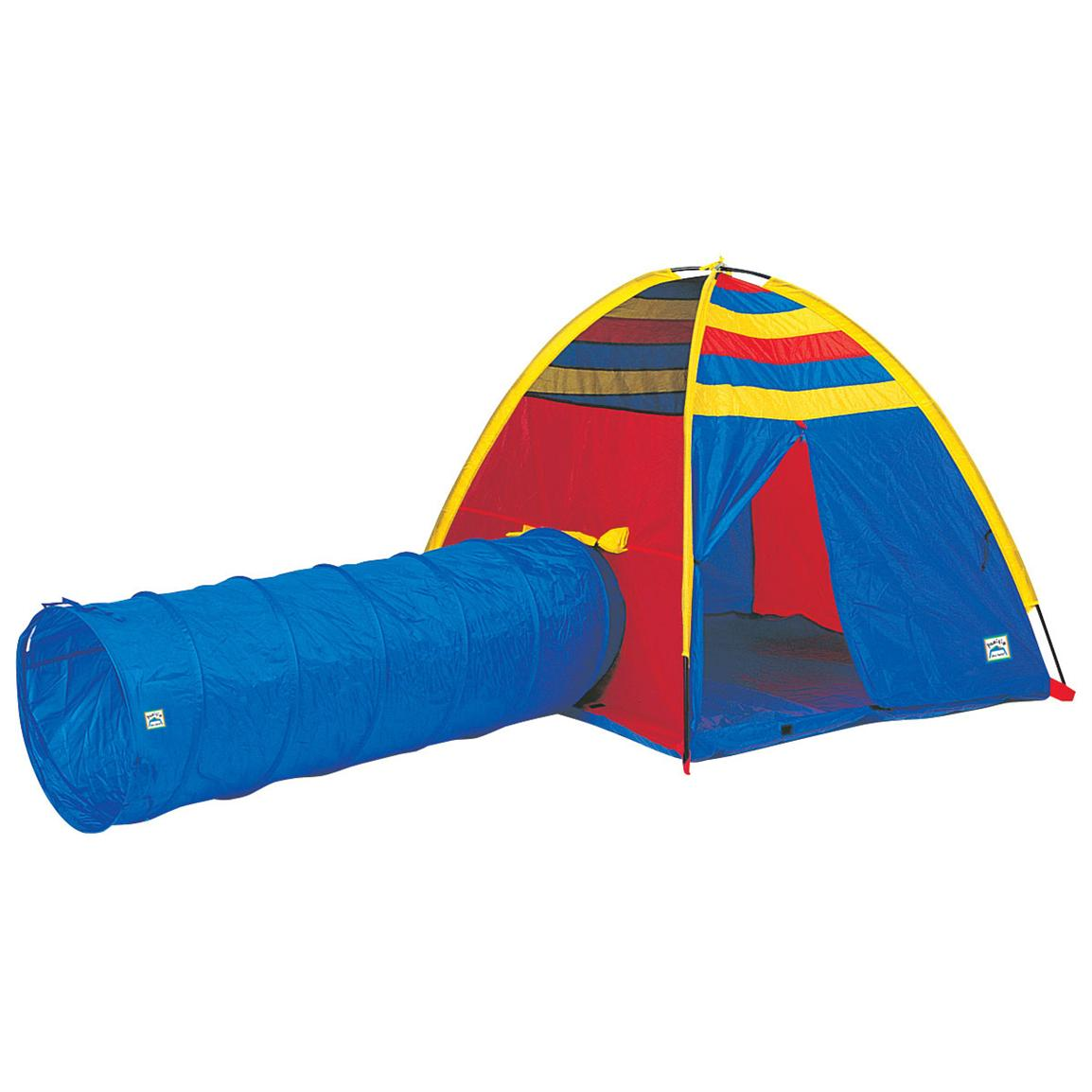 Pacific Play Tents Find-Me Tent and Tunnel Combo  sc 1 st  Sportsmanu0027s Guide & Pacific Play Tents Neon Find - Me Tent and Tunnel Combo - 116329 ...