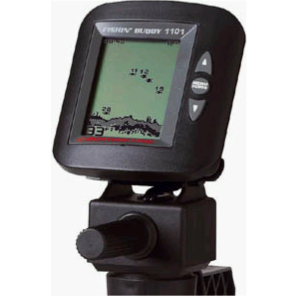 Bottom line fishin 39 buddy 1101 portable fish finder for Ice fishing electronics