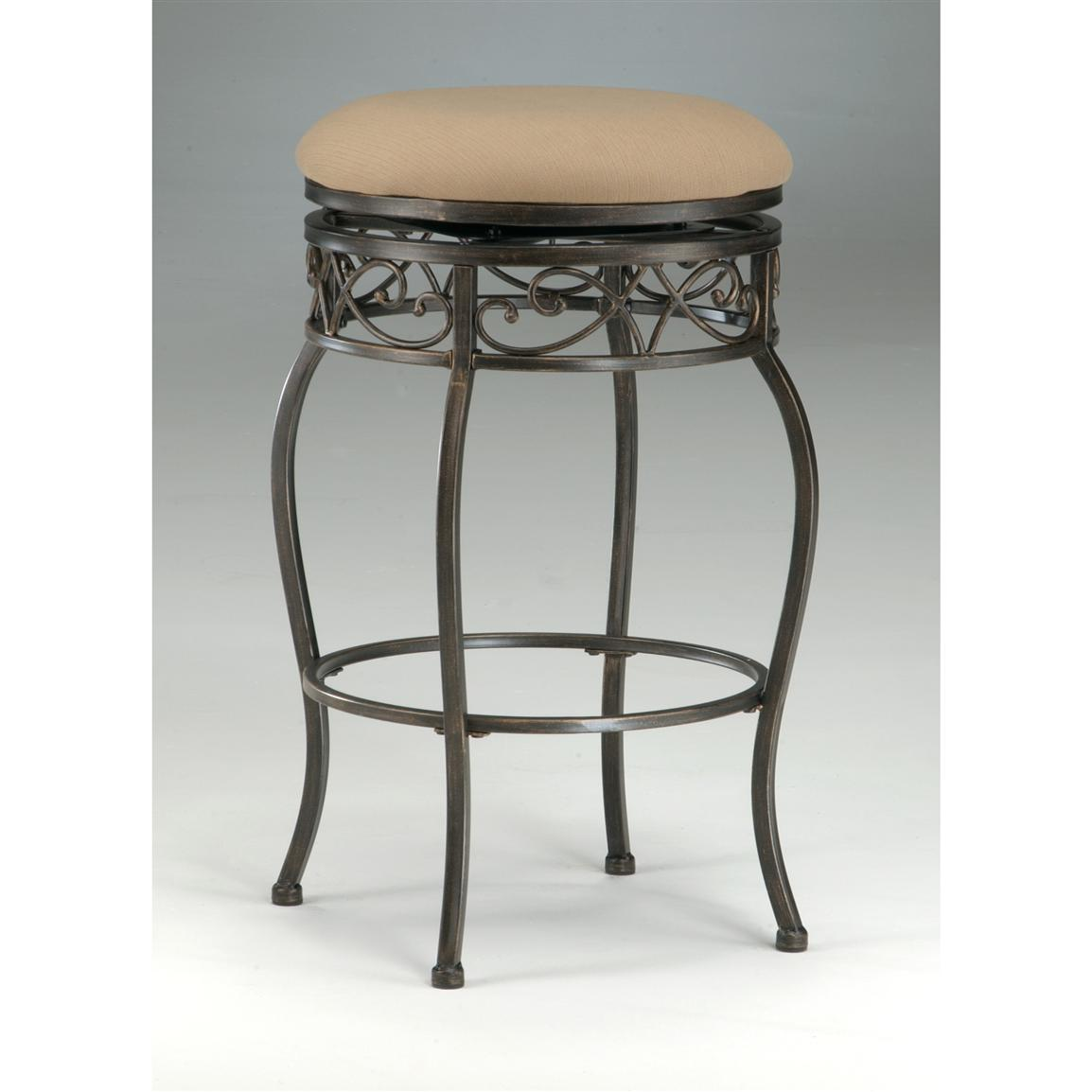 Hillsdale Lincoln Backless Swivel Counter Stool