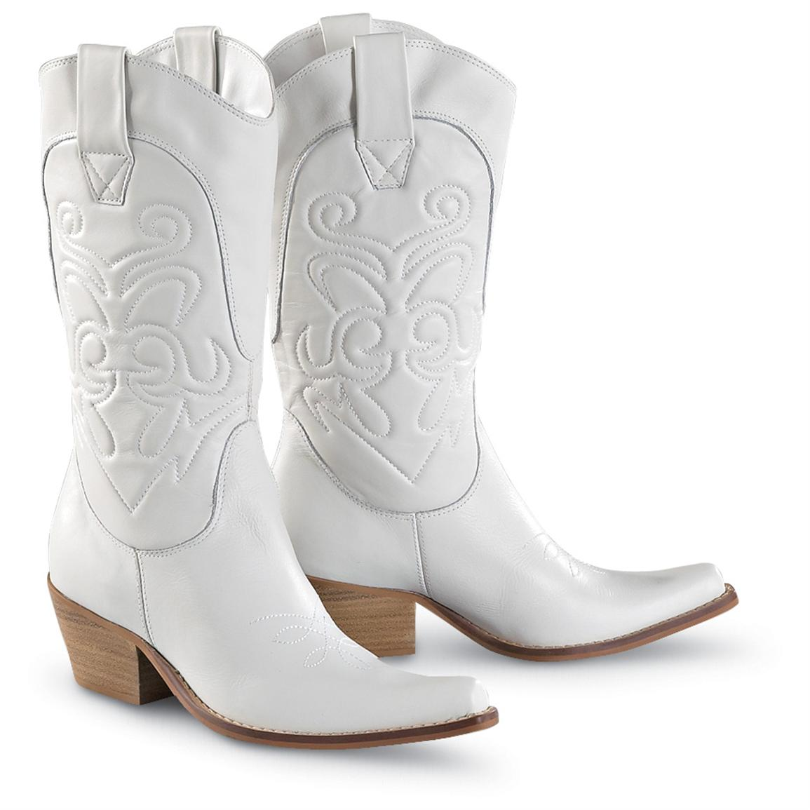 womens penny loves kenny174 high noon western boots white