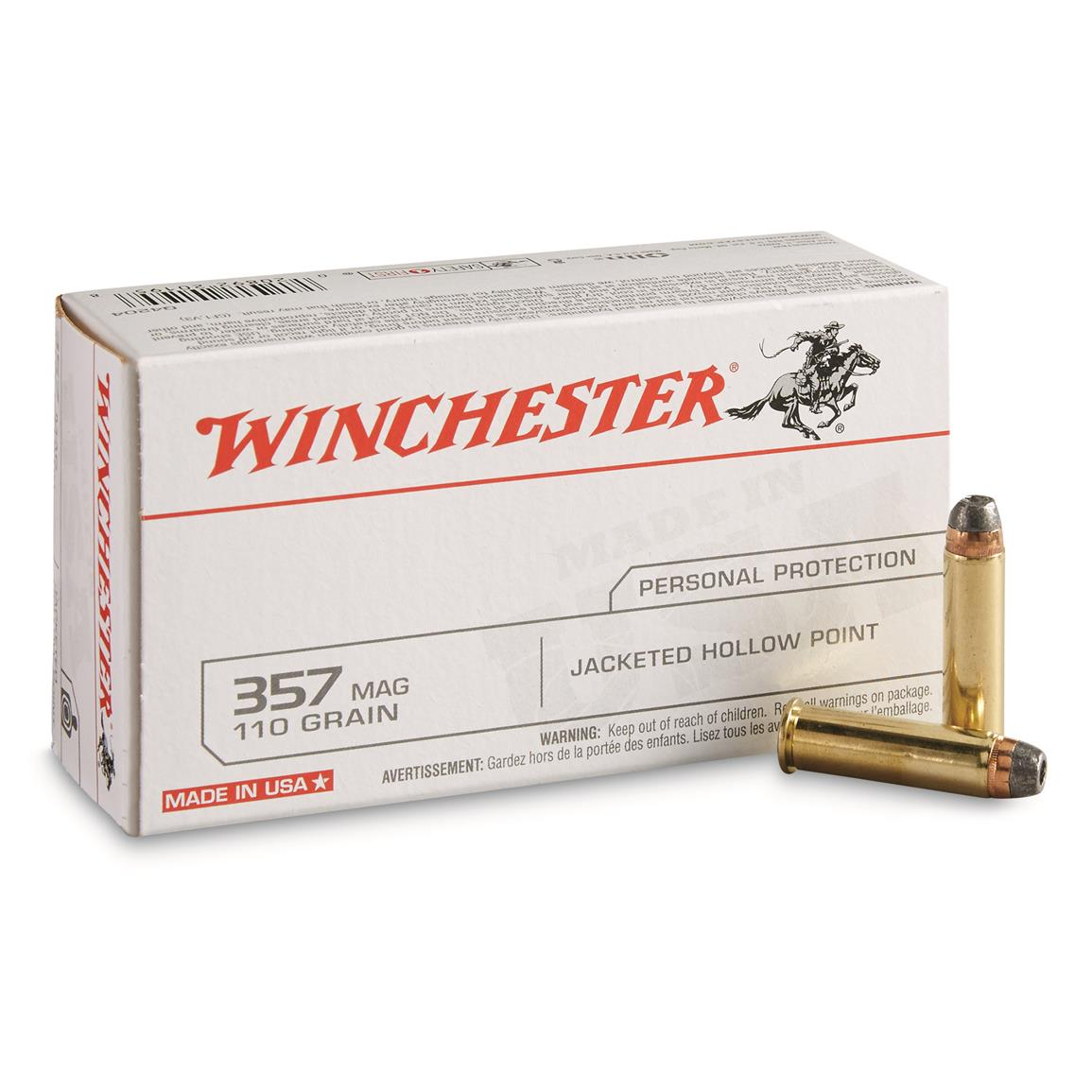 Winchester USA Pistol, .357 mag, JHP, 110 Grain, 50 Rounds
