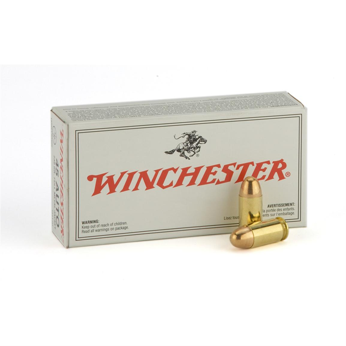 Winchester U.S.A., 9mm Luger, FMJ, 124 Grain, 50 Rounds