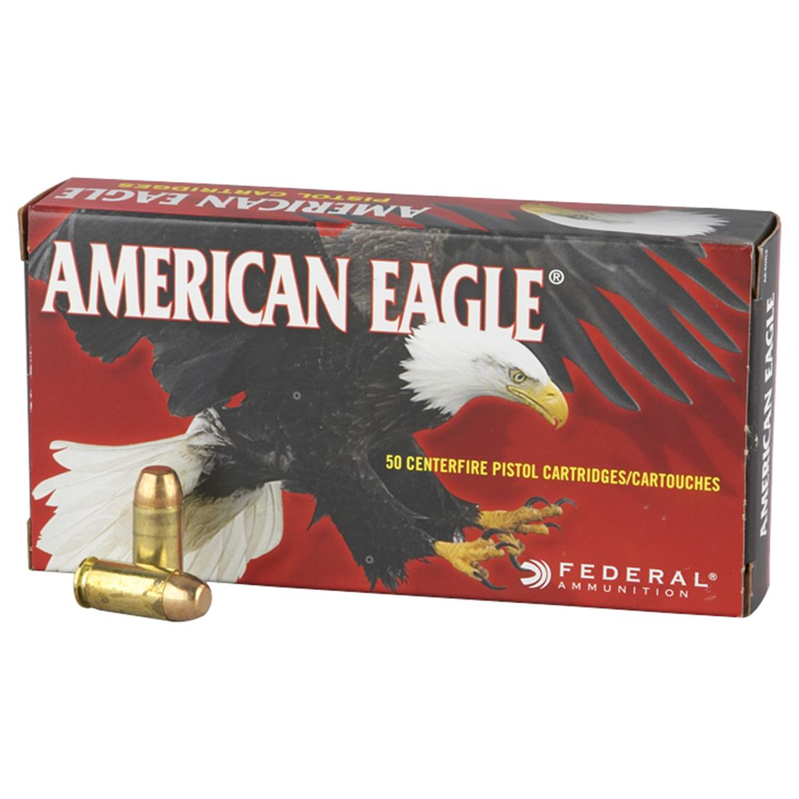 Federal American Eagle Pistol, .40 S&W, FMJ, 165 Grain, 1,000 Rounds