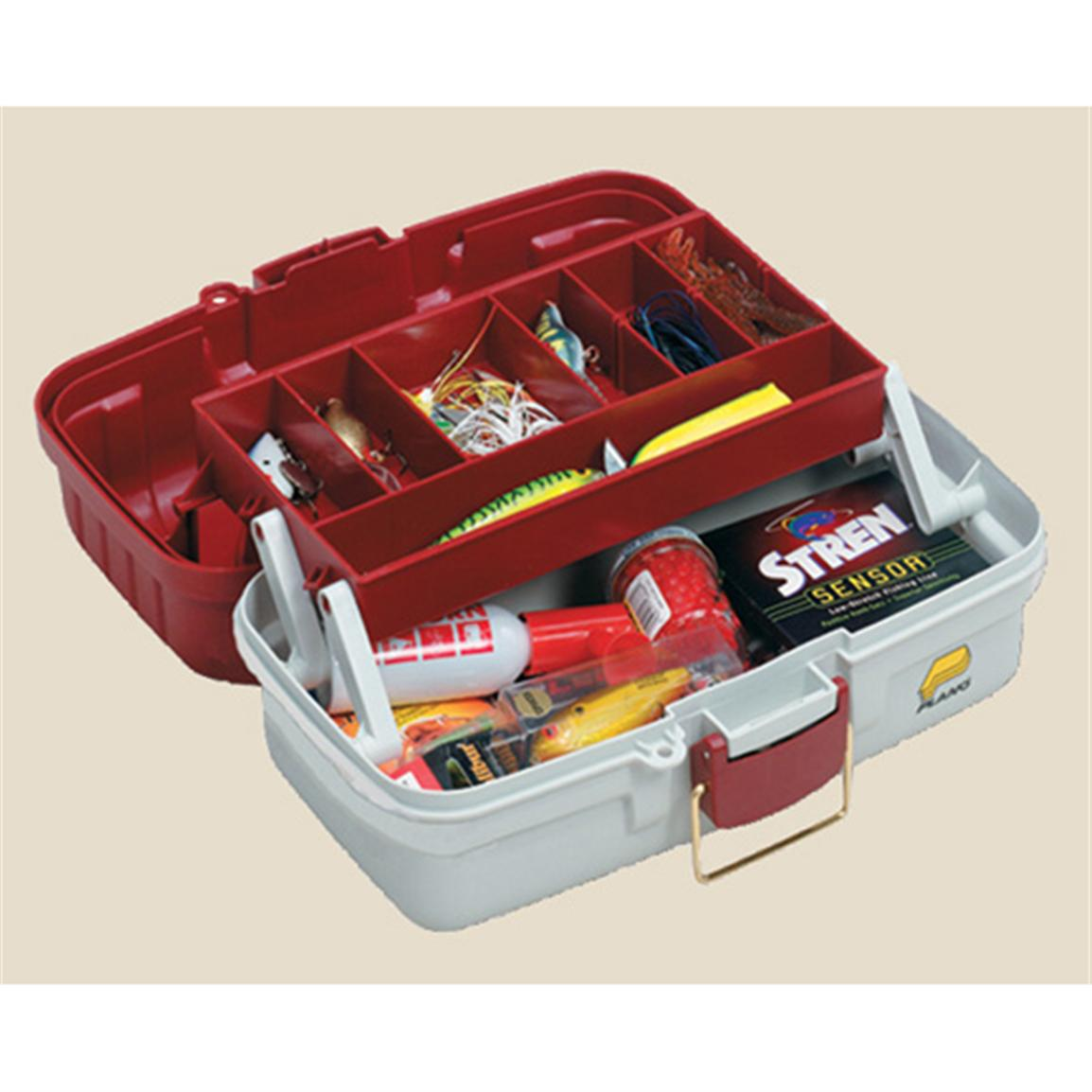 Plano 1-Tray Tackle Box, Red / White