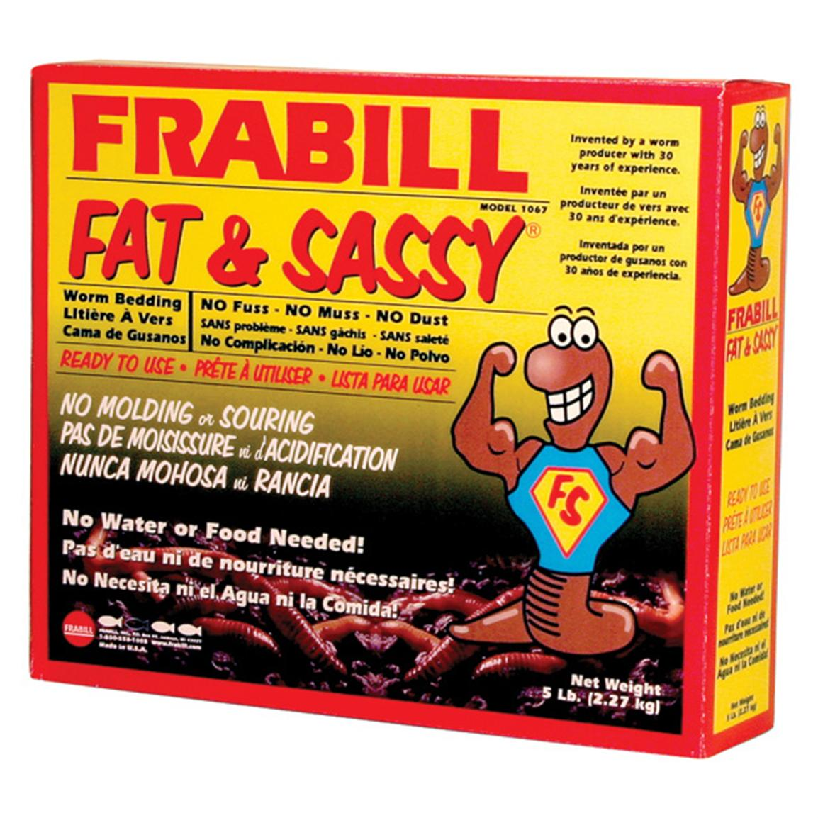 Frabill 1067 Fat N Sassy Pre-mixed Worm Bedding, 5 lbs.