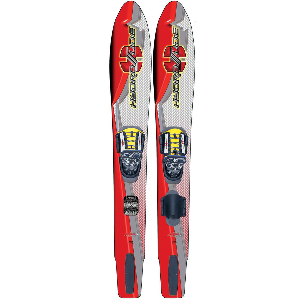 HydroSlide Shaped Adult Water Skis with Lace-Up Bindings