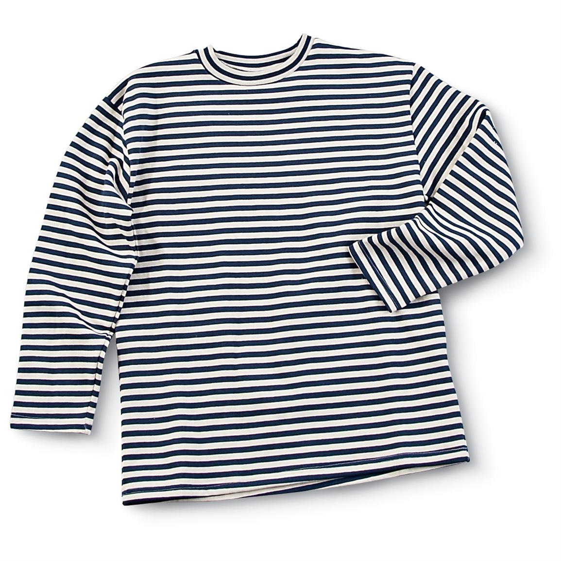 Russian Military-issue Striped Winter Shirt