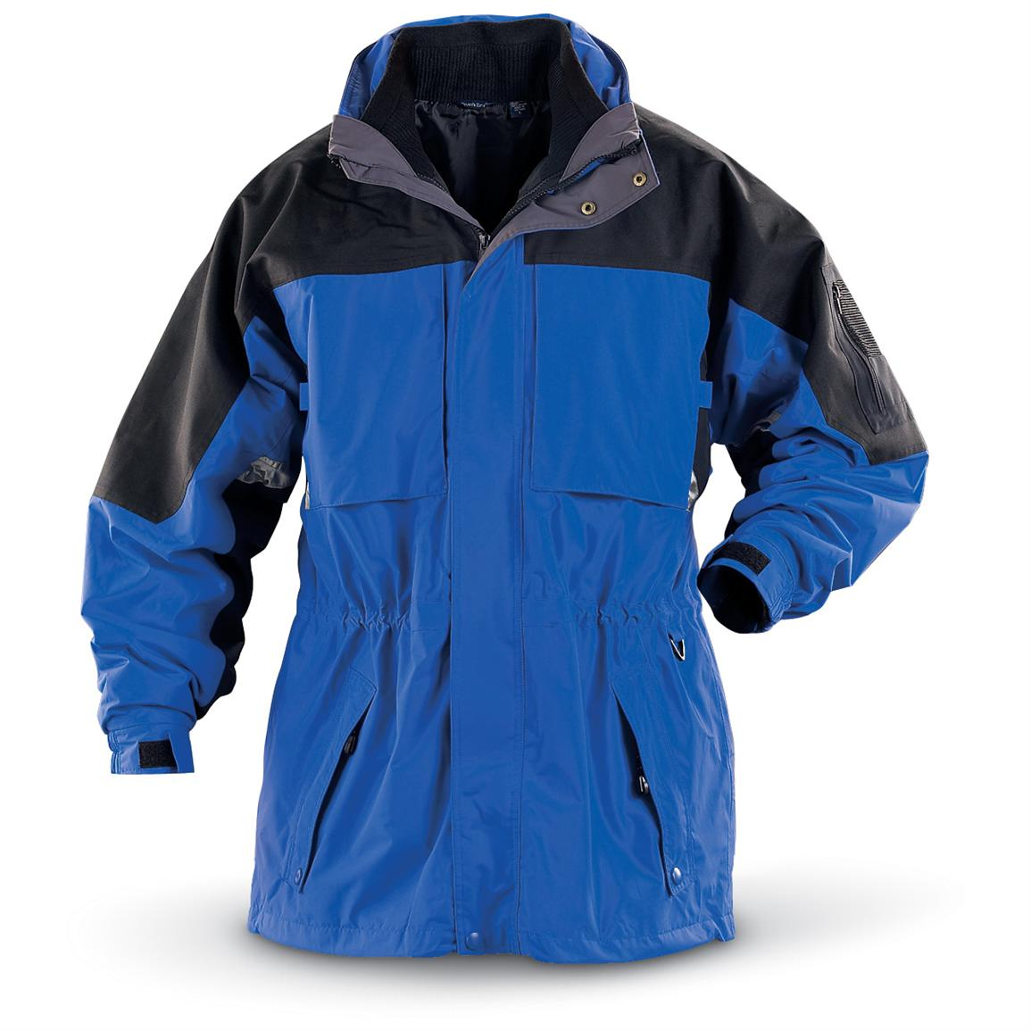 River's End 3-in-1 Three-quarter-length Jacket, Blue / Black