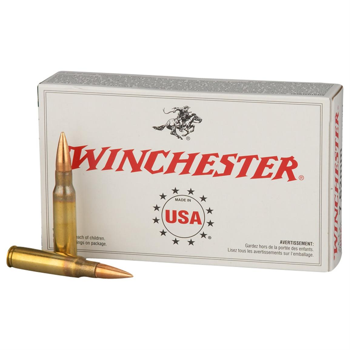 Winchester, .308 (7.62x51mm), FMJ, 147 Grain, 100 Rounds