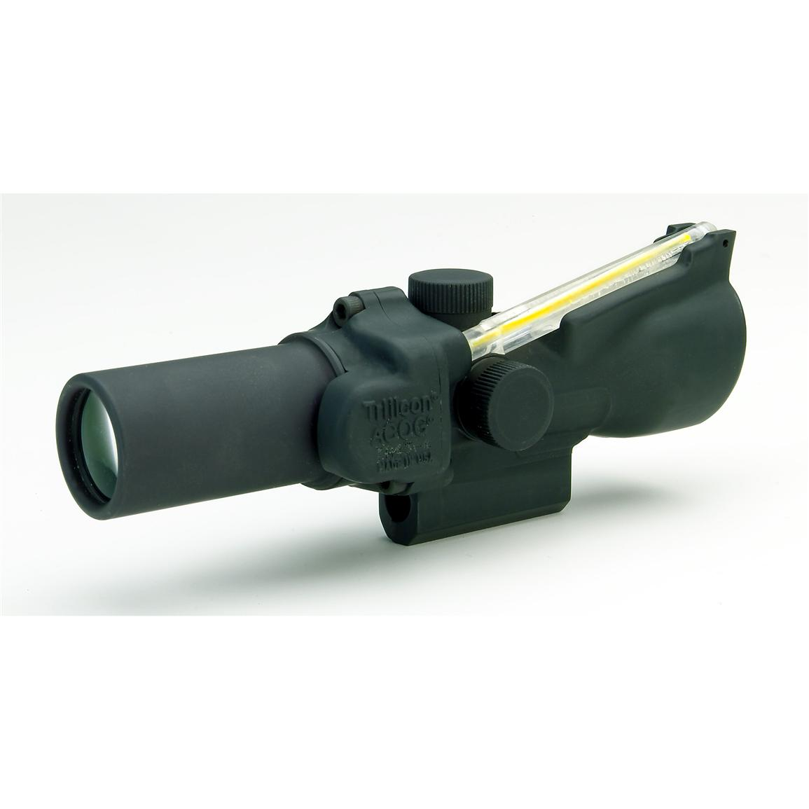 Trijicon ACOG 3.5x35 Red Dual Illumination Donut Reticle Scope and BAC