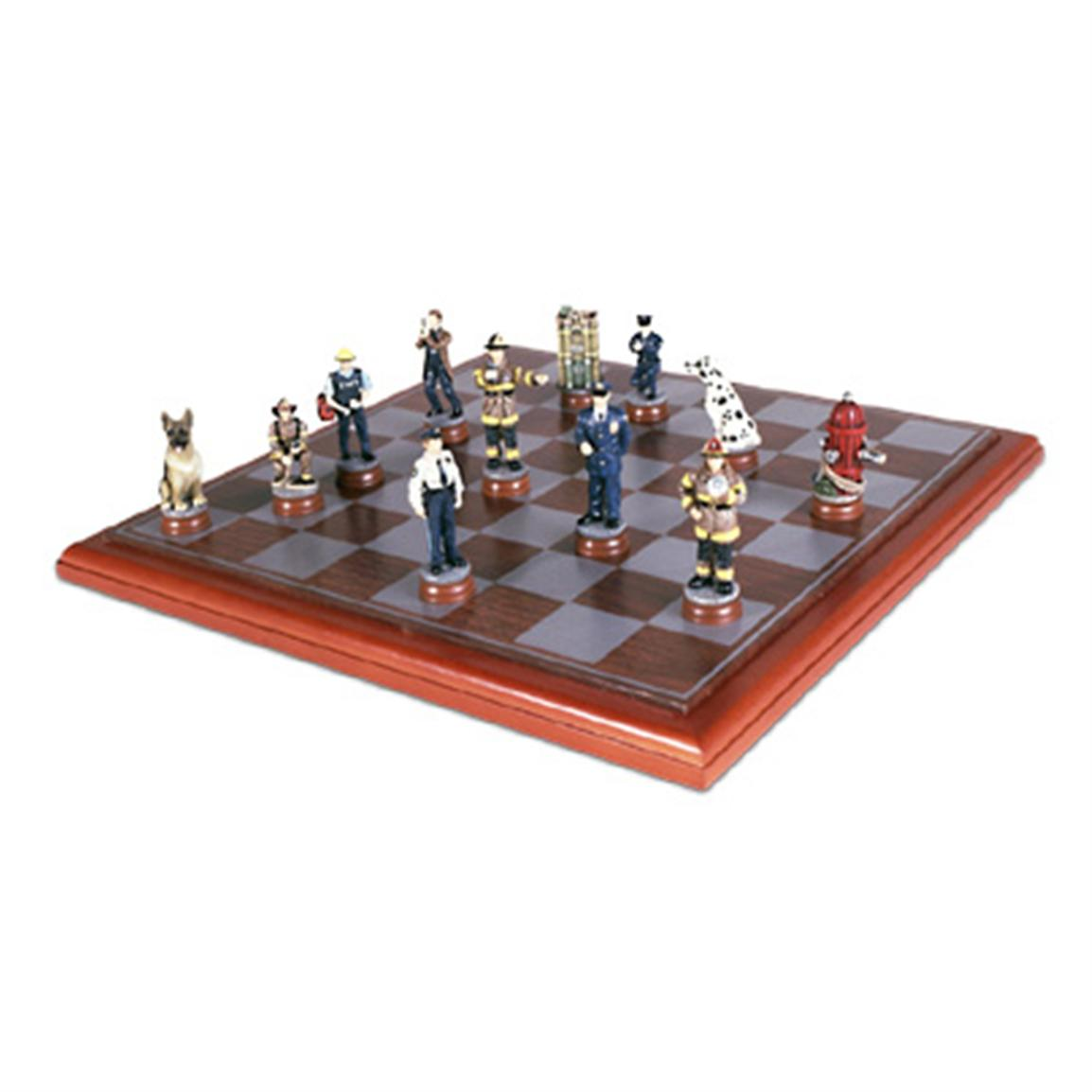 Sunnywood Police / Firemen Chess Set