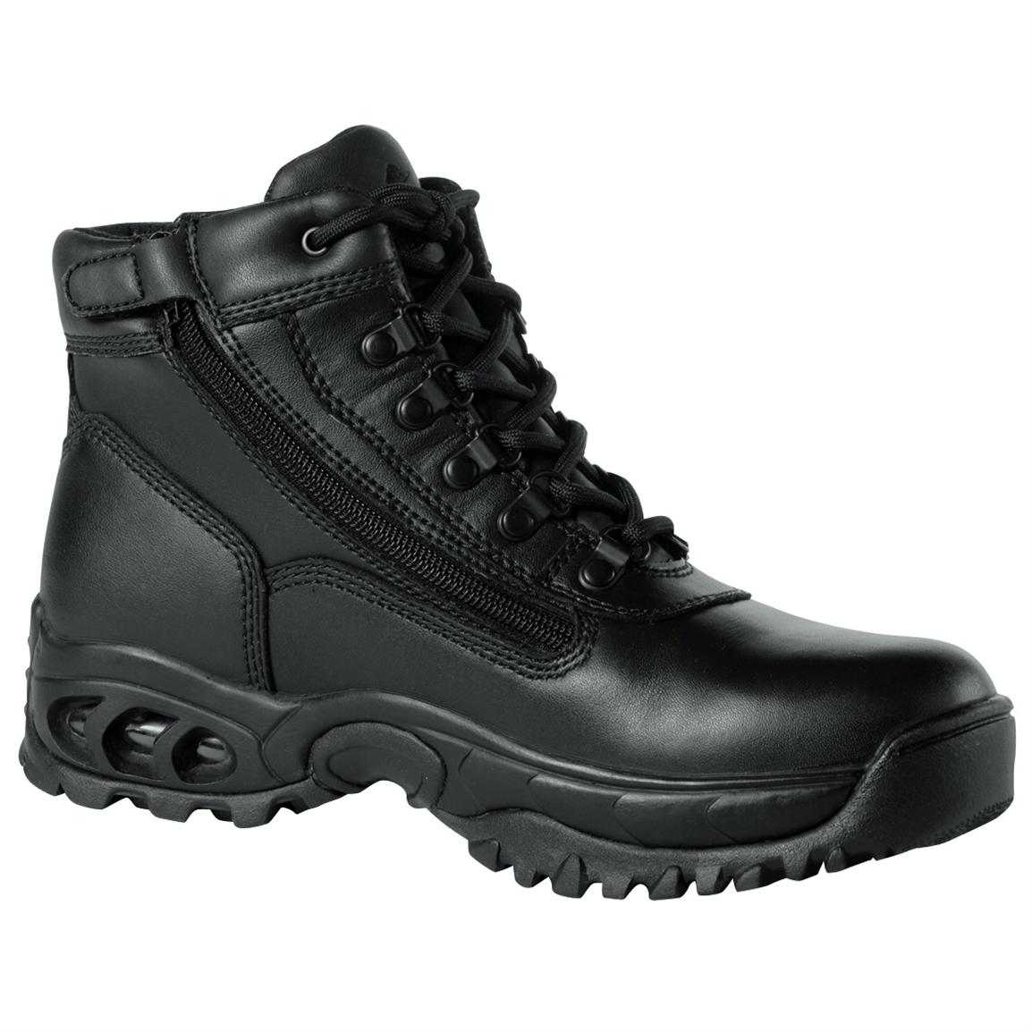 Men's Ridge All-Leather Waterproof Zipper Pathogen-Resistant Combat Boots