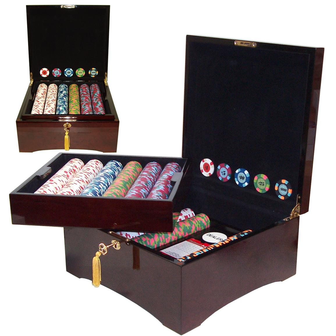 Trademark Games 750-Pc. Paulson Chip Set with Mahogany Case