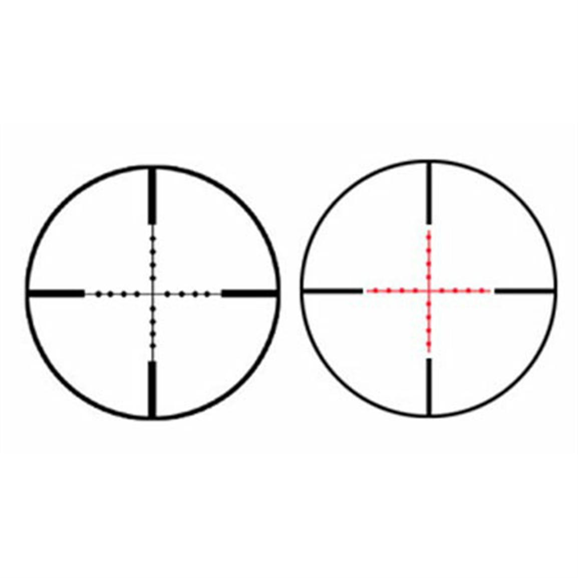 The illuminated glass etched reticle utilizes mil dot reticle so you can judge ranges, compensate for windage and bullet drop and make every shot that much easier to pull off