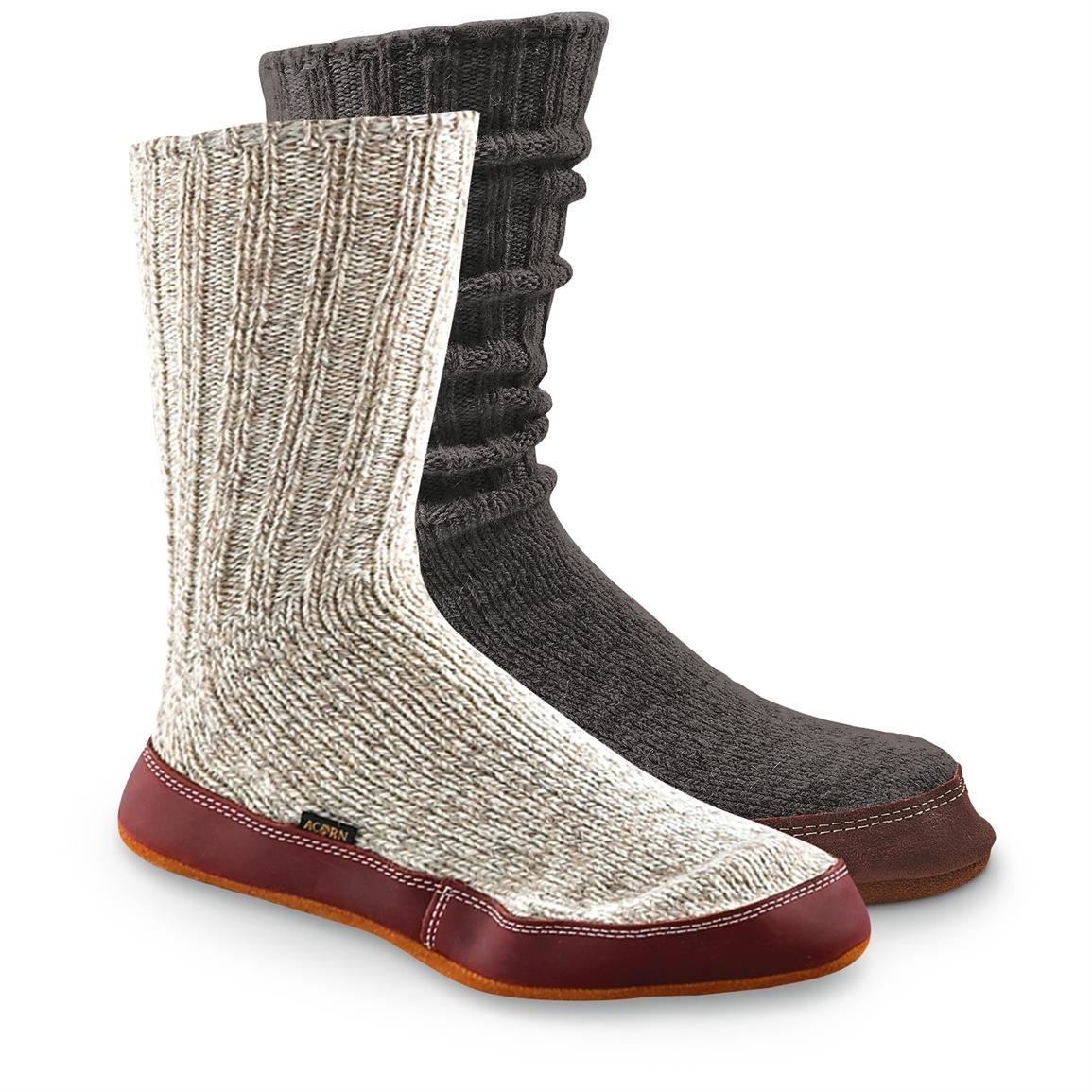 Acorn Unisex Ragg Wool Slipper Socks