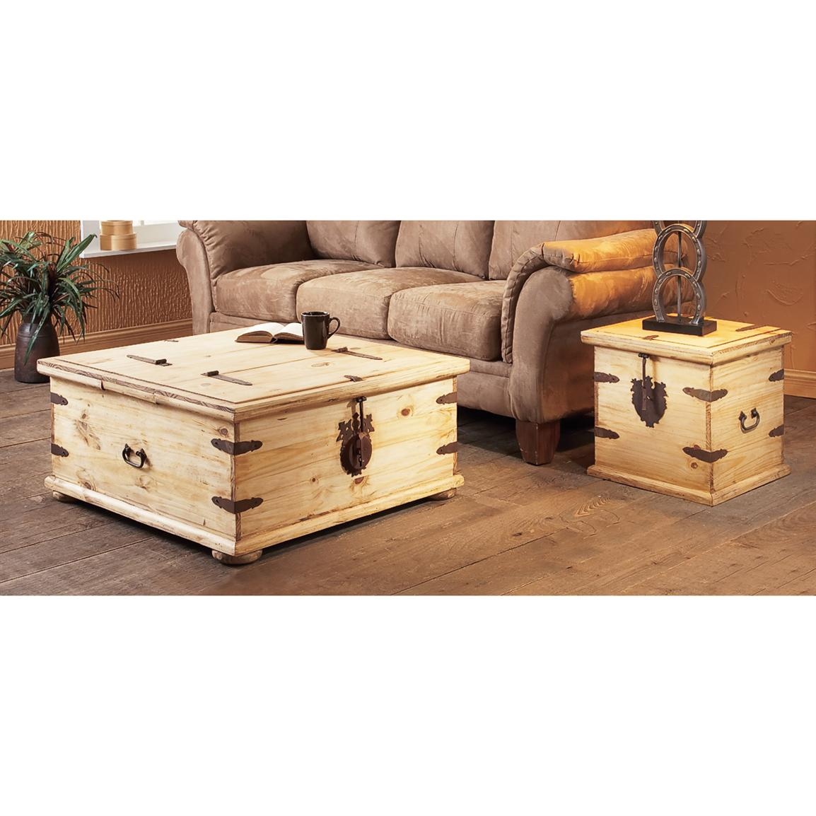 Rustic Trunk End Table 127538 Living Room At Sportsman