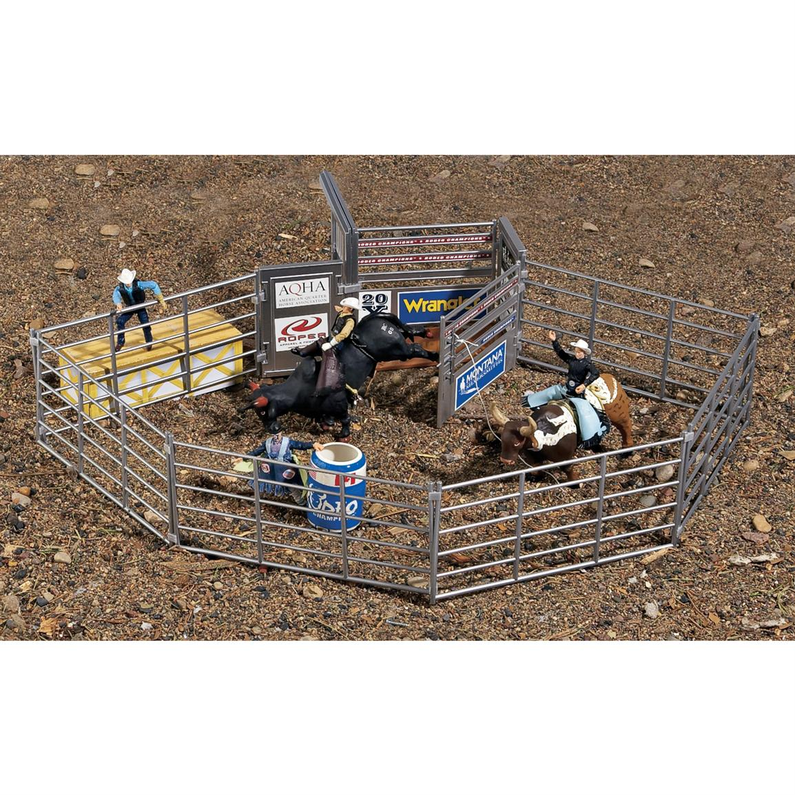 Rodeo Bull Riding Playset 127727 Toys At Sportsman S Guide