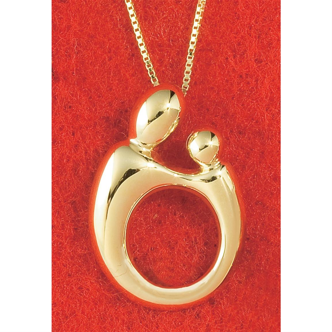 mother and child 14k gold necklace 129455 jewelry at