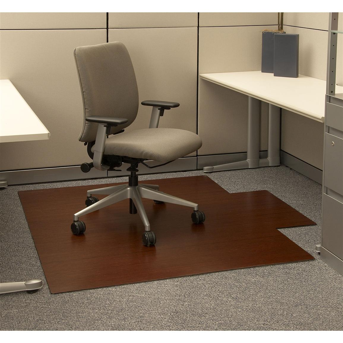 anji mountain bamboo rug co.® bamboo roll - up office chair mat