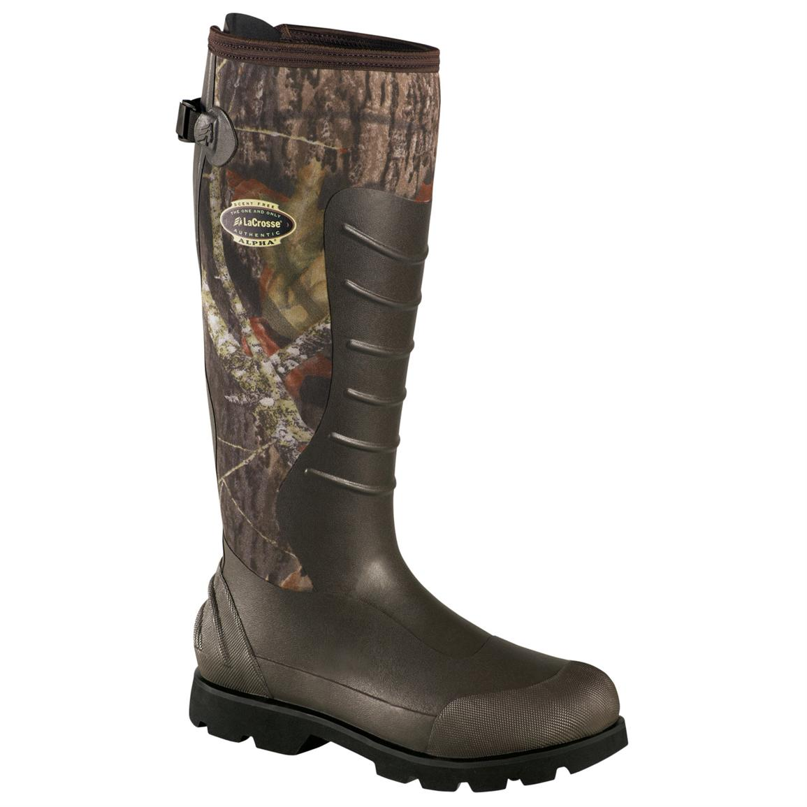 "Men's LaCrosse 18"" 5 mm Alpha Lite Boots, Mossy Oak Break-Up"