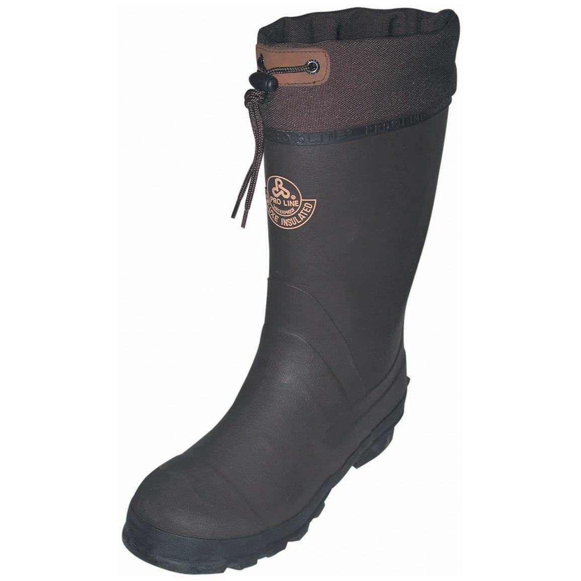Pro Line Rubber Pac Boots, Chocolate