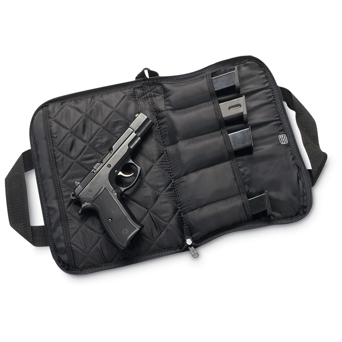 Python Pistol Rug With 5 Mag Pouches, Black