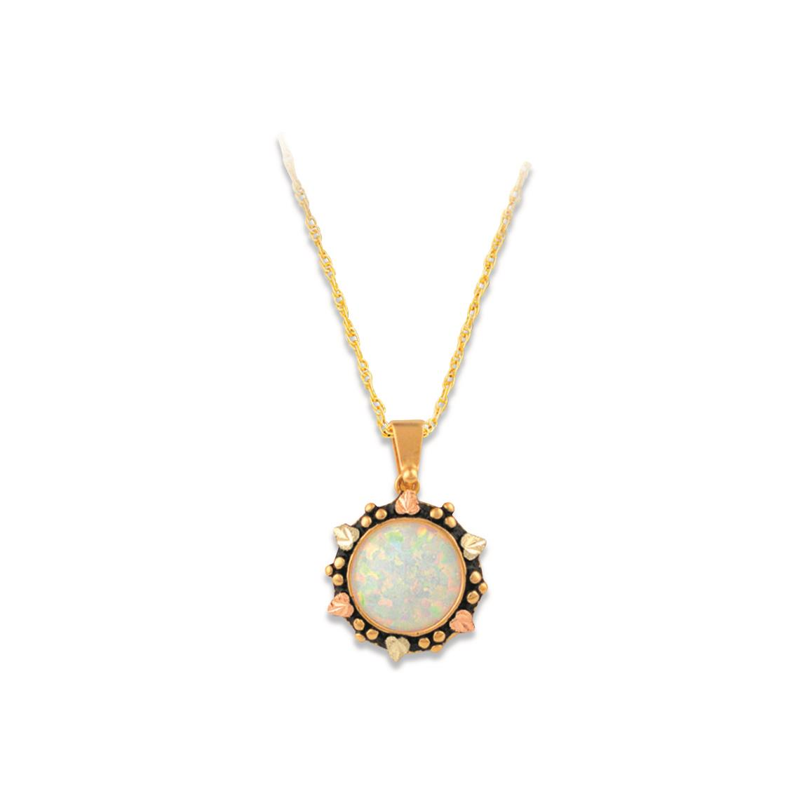 Landstrom's 10K Yellow Gold Pendant with Opal