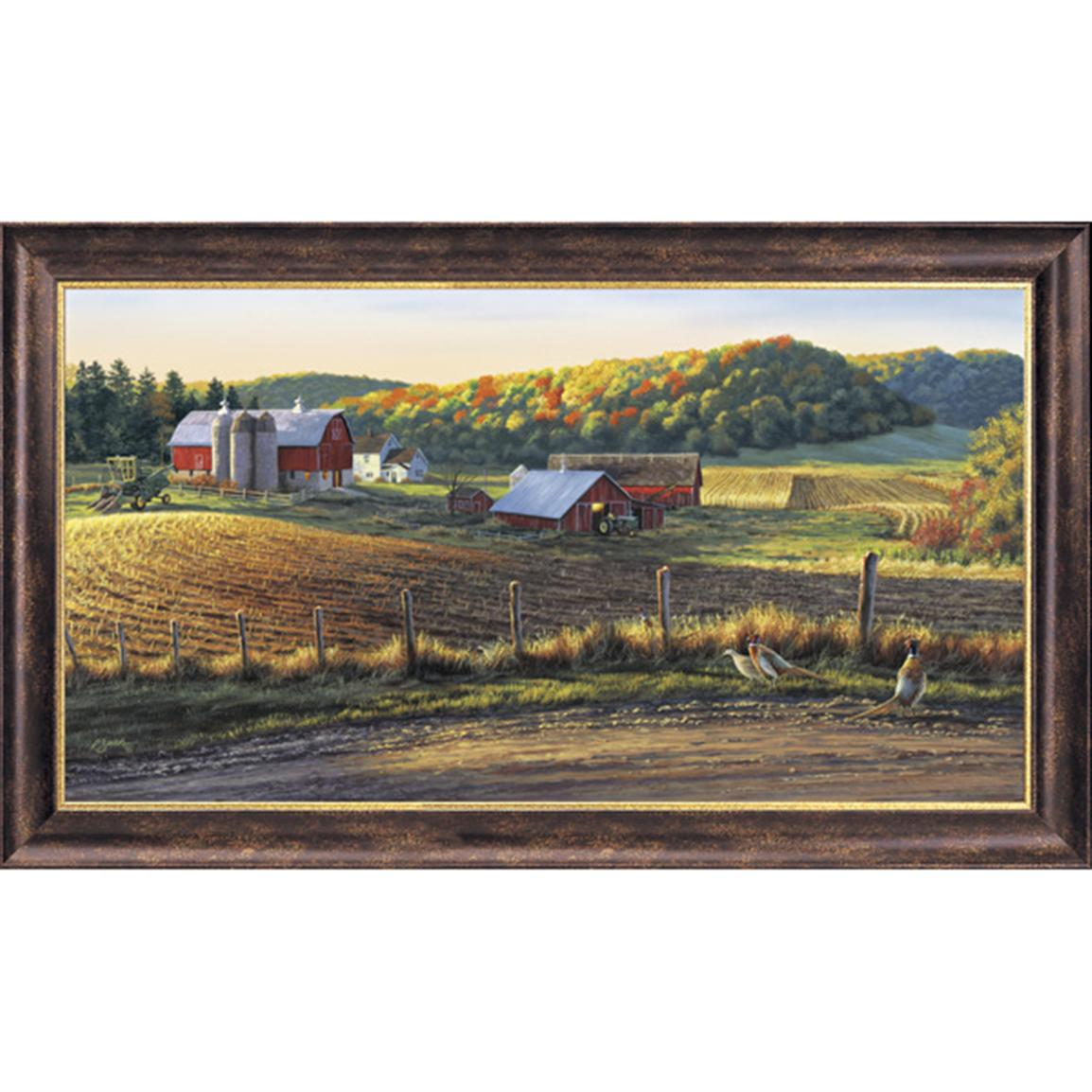 """Autum Harvest"" Canvas By Darrell Bush Signed Limited Edition"