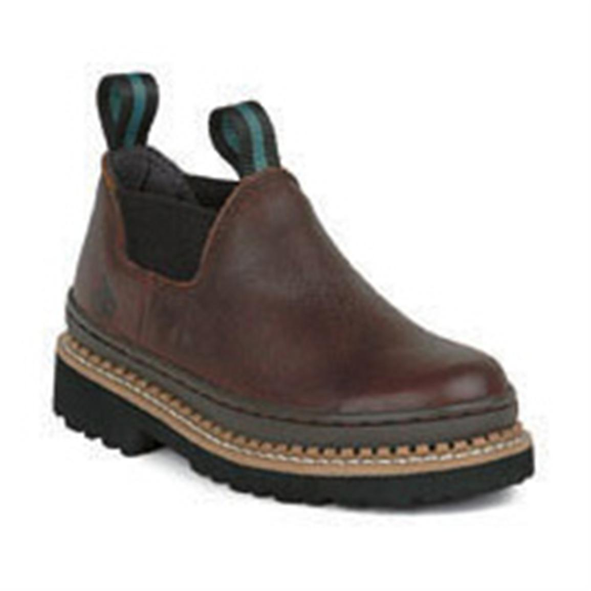 Georgia Men's Boots Romeo Soggy Brown Giant Slip Ons