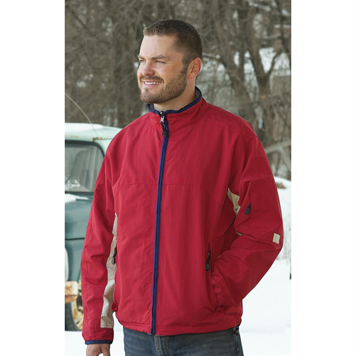 River's End Reversible Fleece-lined Jacket, Red